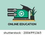 online webinar concept  ... | Shutterstock . vector #2006991365