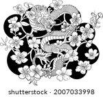 dragon illustration for...   Shutterstock .eps vector #2007033998