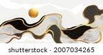 wave and sun abstract art... | Shutterstock .eps vector #2007034265
