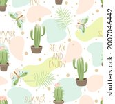 seamless pattern with cute...   Shutterstock .eps vector #2007046442