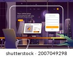 online shop everywhere with you ... | Shutterstock .eps vector #2007049298