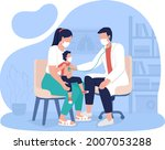 mother and child appointment at ... | Shutterstock .eps vector #2007053288