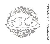 single one line drawing chicken ...   Shutterstock .eps vector #2007058682