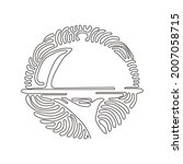 continuous one line drawing... | Shutterstock .eps vector #2007058715