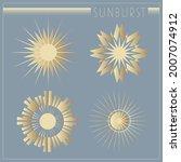 beautiful art deco sun elements ...   Shutterstock .eps vector #2007074912