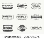 satisfaction guaranteed vintage ... | Shutterstock .eps vector #200707676