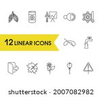 universal icons set with oil ...