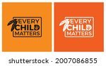 every child matters and orange...   Shutterstock .eps vector #2007086855