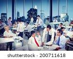 multiethnic group of people... | Shutterstock . vector #200711618