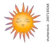 hand drawn sun illustration.... | Shutterstock . vector #2007130268