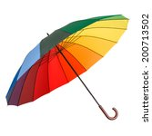 Colorful Umbrella Isolated On A ...