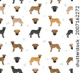 black mouth cur seamless... | Shutterstock .eps vector #2007162272