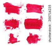 set of watercolor blobs ... | Shutterstock . vector #200716235