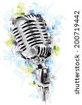 vintage mic | Shutterstock .eps vector #200719442