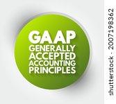 gaap   generally accepted... | Shutterstock .eps vector #2007198362