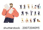 set of young businessman at... | Shutterstock .eps vector #2007204095