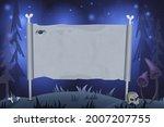 halloween background with empty ... | Shutterstock .eps vector #2007207755