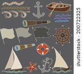 vector illustration of marine... | Shutterstock .eps vector #200722325