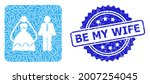 be my wife textured stamp seal... | Shutterstock .eps vector #2007254045
