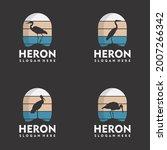 set of vintage heron logo...   Shutterstock .eps vector #2007266342
