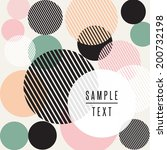 abstract circle design with text | Shutterstock .eps vector #200732198