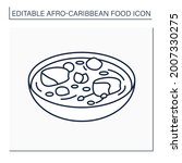 afro caribbean food line icon.... | Shutterstock .eps vector #2007330275