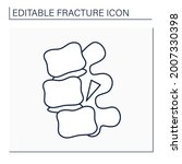 fracture dislocation line icon. ... | Shutterstock .eps vector #2007330398
