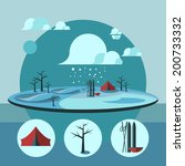 nature landscape illustration.  ... | Shutterstock .eps vector #200733332