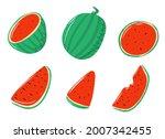 set of watermelon elements ...   Shutterstock .eps vector #2007342455