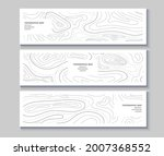 set of topography flyers.... | Shutterstock .eps vector #2007368552