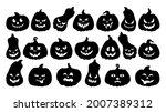 halloween pumpkin face cartoon... | Shutterstock .eps vector #2007389312
