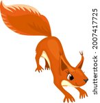 cartoon red squirrel isolated... | Shutterstock .eps vector #2007417725
