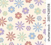 Pastel Vintage Floral Seamless...