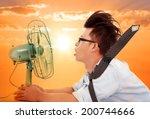 the heat wave is coming... | Shutterstock . vector #200744666