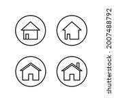 home button icon set collection ...
