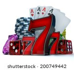 3d rendering  composition with... | Shutterstock . vector #200749442