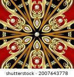 illustration decorative ...   Shutterstock . vector #2007643778