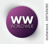 ww   world wide acronym ... | Shutterstock .eps vector #2007656282