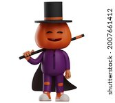 A Funny Halloween Scarecrow 3d...
