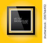 vector modern frame on the... | Shutterstock .eps vector #200766452