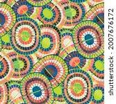 1970s style rainbow seamless...   Shutterstock .eps vector #2007676172