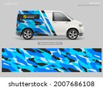 wrap decal with abstract blue... | Shutterstock .eps vector #2007686108