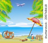 summer vacation and travel...   Shutterstock .eps vector #200768618