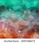 abstract polygonal background.... | Shutterstock .eps vector #200768672