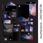 abstract polygonal business set.... | Shutterstock .eps vector #200768738
