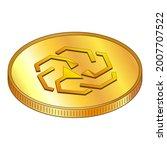 gold coins unus sed leo in...   Shutterstock .eps vector #2007707522