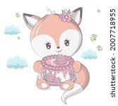 fox in cartoon style isolated... | Shutterstock .eps vector #2007718955