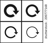 4 arrow sign reload refresh...