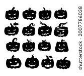 halloween pumpkins with various ...   Shutterstock .eps vector #2007786038