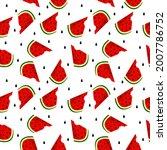 vector watermelon background...   Shutterstock .eps vector #2007786752